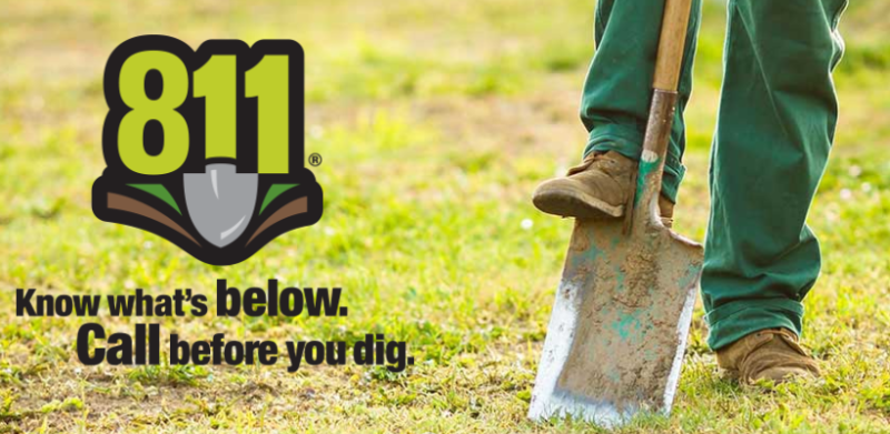 Know whats below - call before you dig